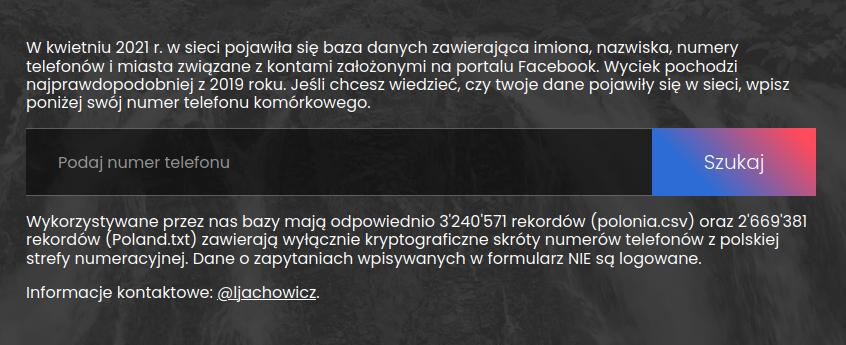 wyciekło - screenshot